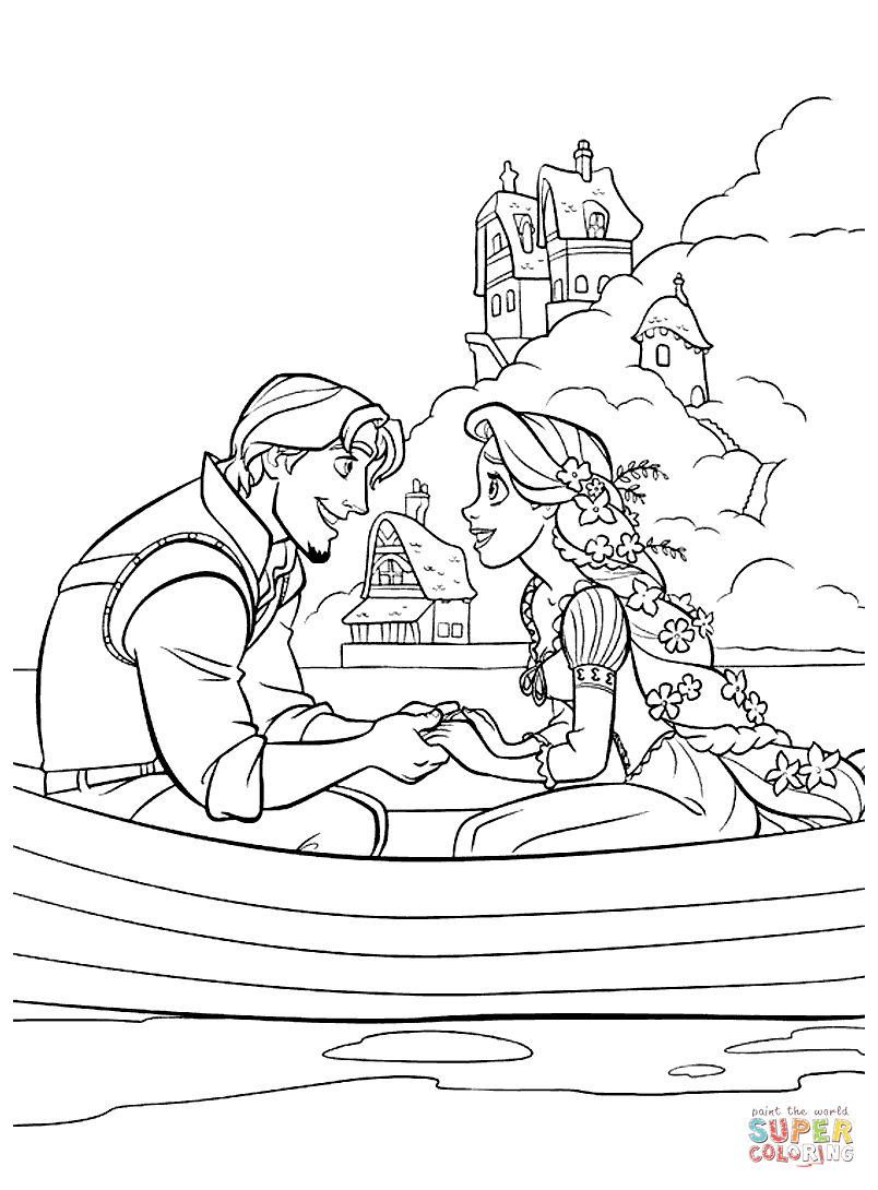 Rapunzel coloring #9, Download drawings