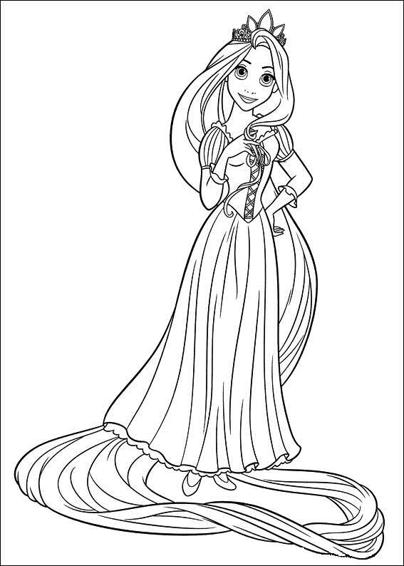 Rapunzel coloring #18, Download drawings