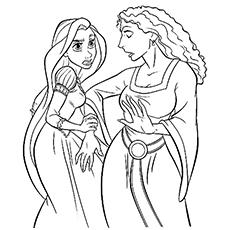 Rapunzel coloring #16, Download drawings