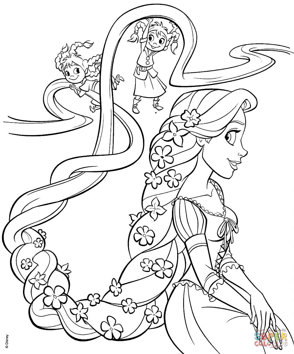 Rapunzel coloring #11, Download drawings