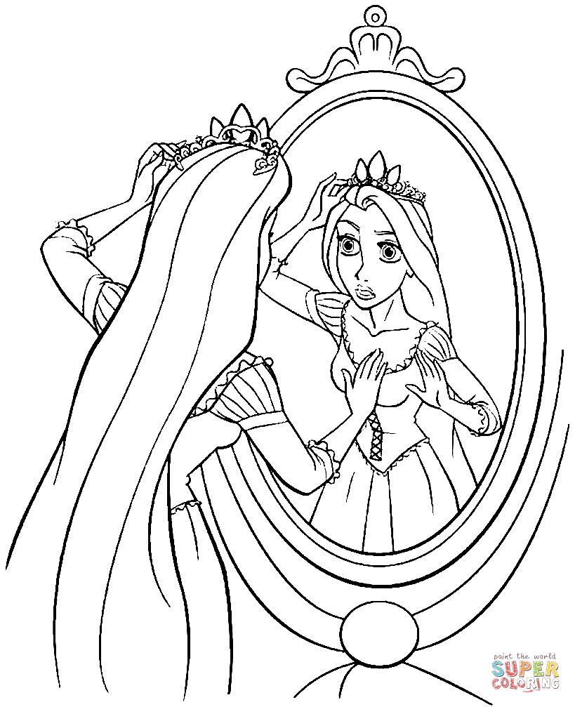 Rapunzel coloring #5, Download drawings