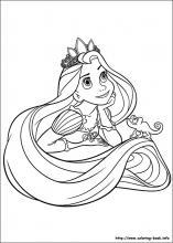 Rapunzel coloring #17, Download drawings