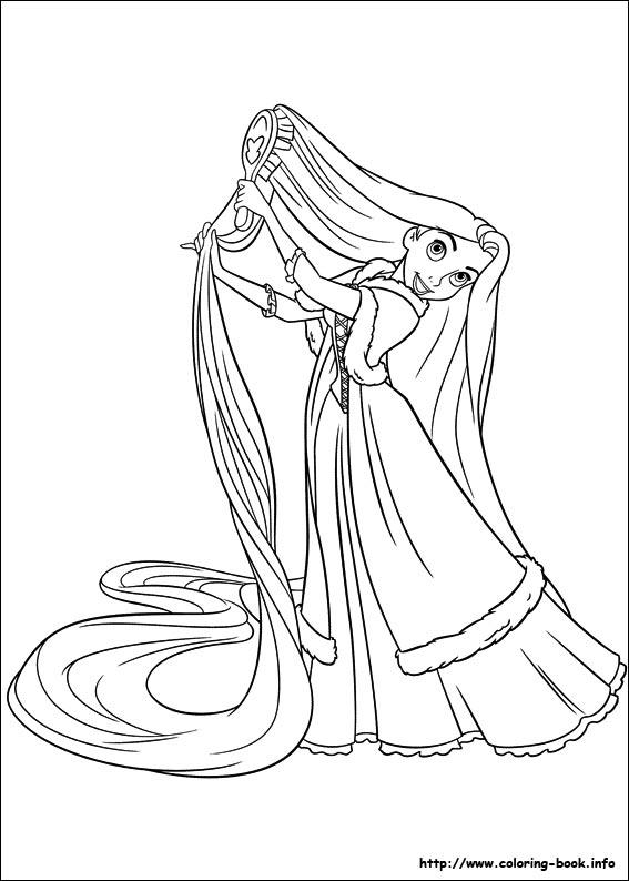 Rapunzel coloring #10, Download drawings