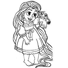 Rapunzel coloring #20, Download drawings