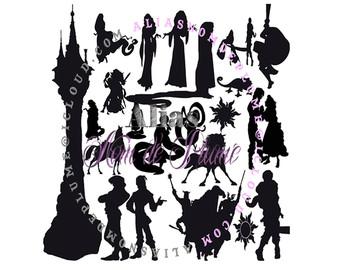 Rapunzel svg #19, Download drawings