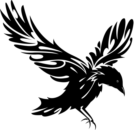 Raven clipart #3, Download drawings