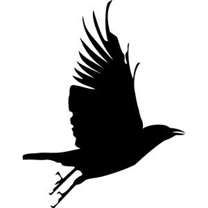 Raven svg #3, Download drawings