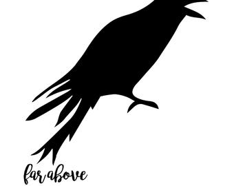 Raven svg #47, Download drawings