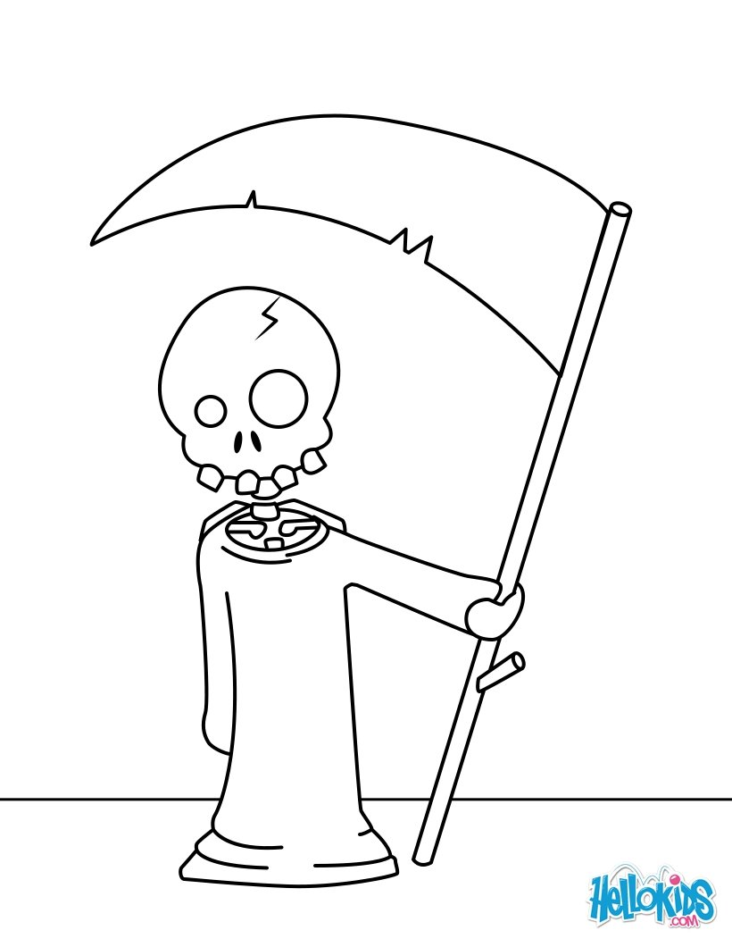 Reaper coloring #5, Download drawings