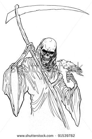 Reaper coloring #9, Download drawings