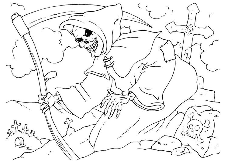 Reaper coloring #17, Download drawings
