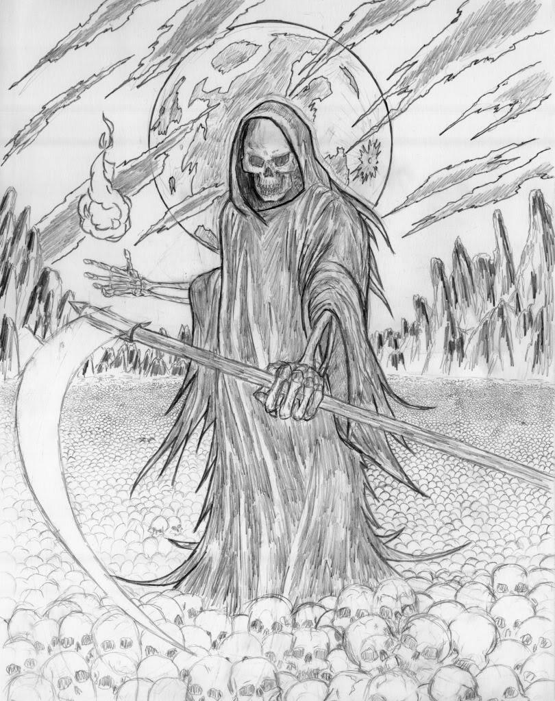 Reaper coloring #6, Download drawings