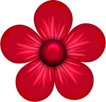 Red Flower clipart #12, Download drawings
