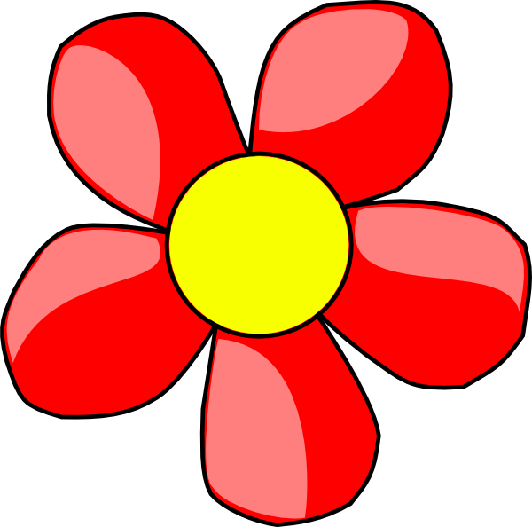 Red Flower clipart #11, Download drawings