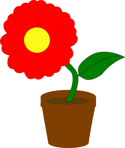 Red Flower clipart #5, Download drawings