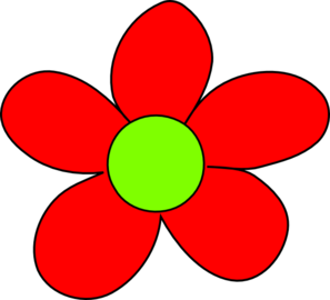 Red Flower clipart #18, Download drawings