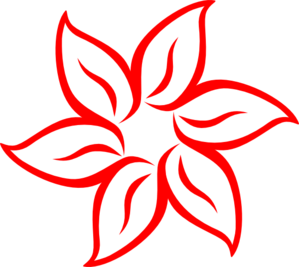 Red Flower clipart #1, Download drawings