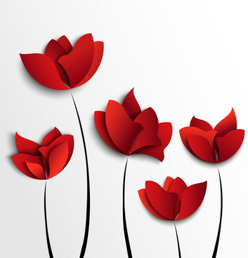 Red Flower svg #13, Download drawings