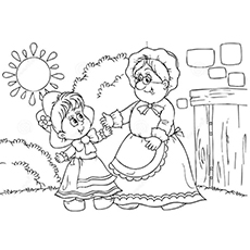 Red Riding Hood coloring #10, Download drawings