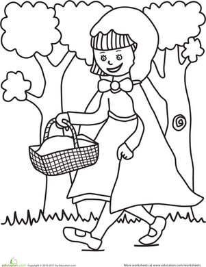 Red Riding Hood coloring #3, Download drawings