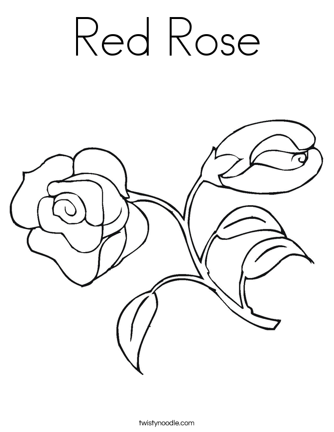 Red Rose coloring #2, Download drawings