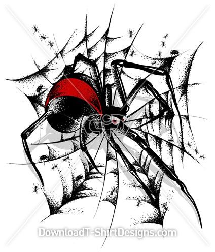 Redback Spider clipart #5, Download drawings