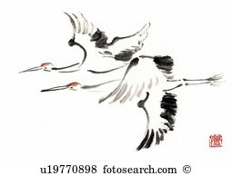 Red-crowned Crane clipart #12, Download drawings