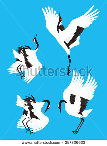 Red-crowned Crane clipart #16, Download drawings