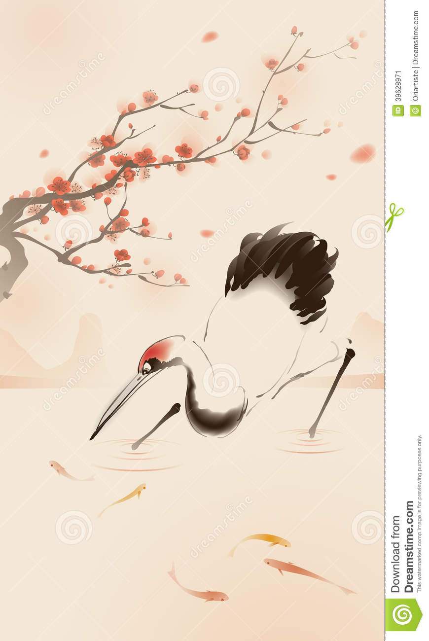 Red-crowned Crane clipart #14, Download drawings