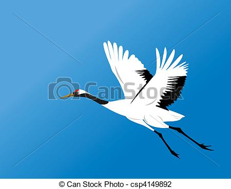 Red-crowned Crane clipart #5, Download drawings