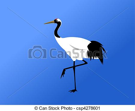 Red-crowned Crane clipart #15, Download drawings
