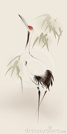 Red-crowned Crane clipart #18, Download drawings