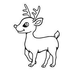 Reindeer coloring #1, Download drawings