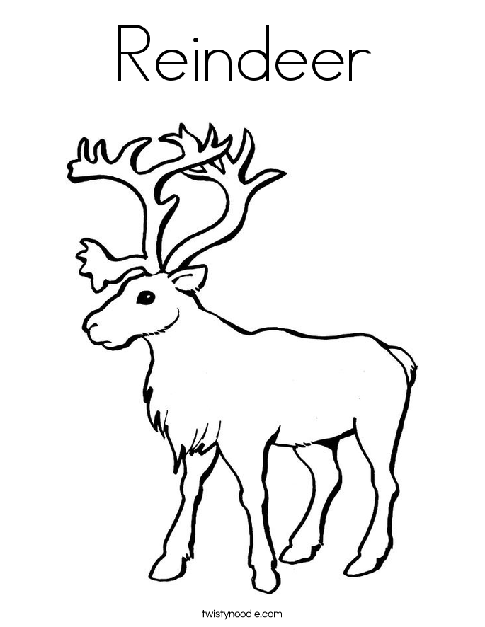 Reindeer coloring #5, Download drawings