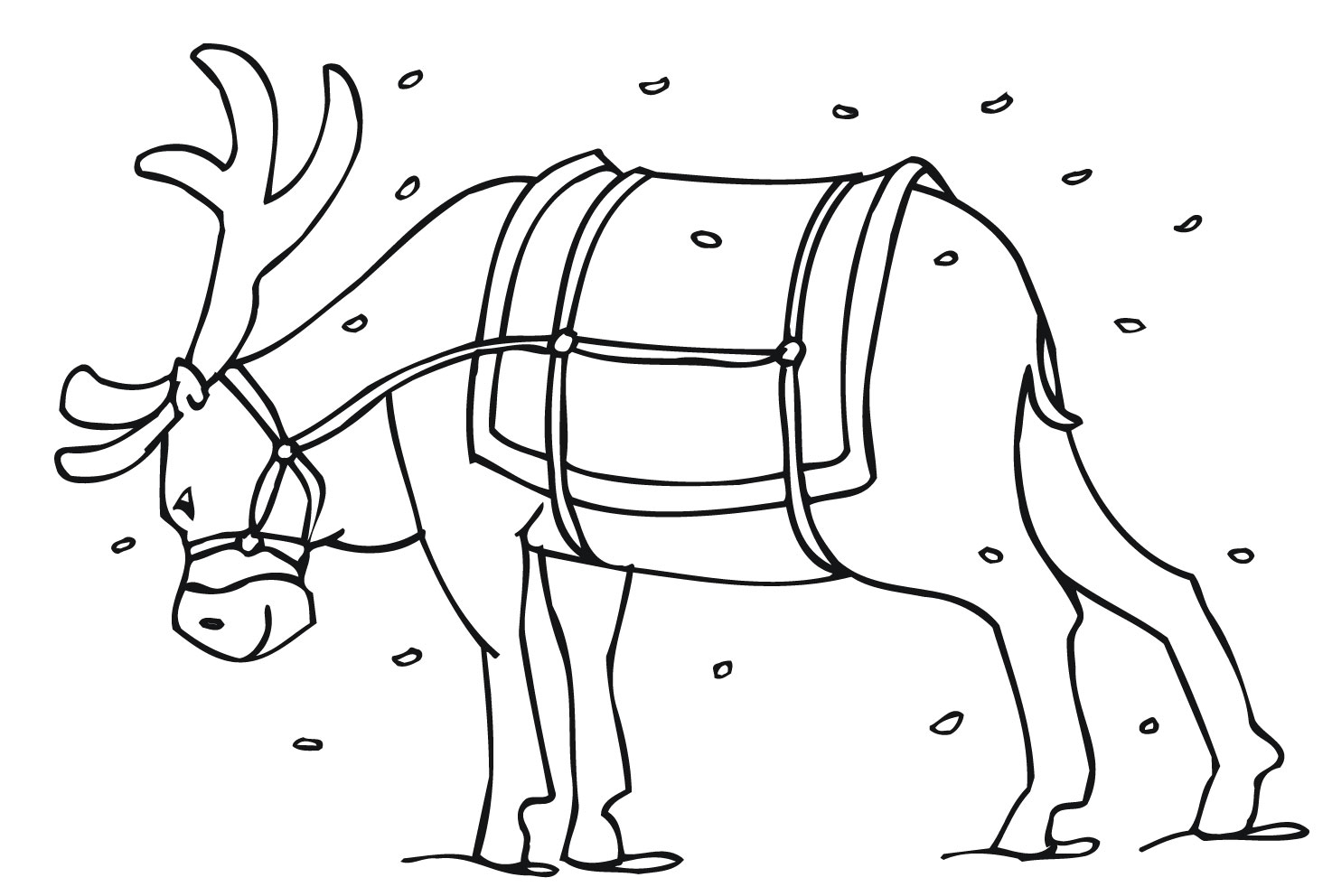 Reindeer coloring #7, Download drawings