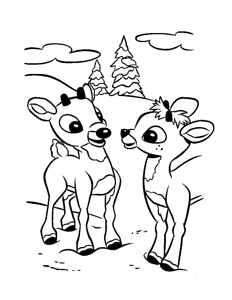 Reindeer coloring #12, Download drawings