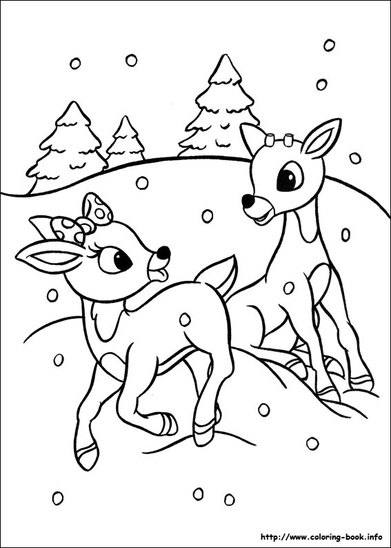 Reindeer coloring #15, Download drawings