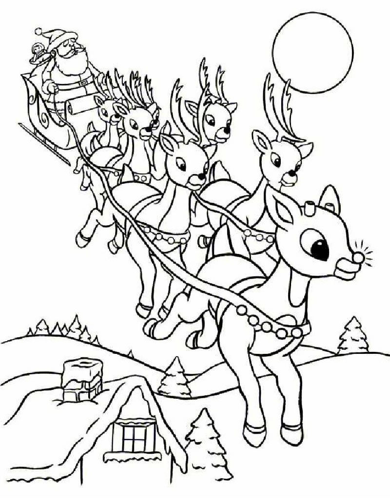 Reindeer coloring #14, Download drawings