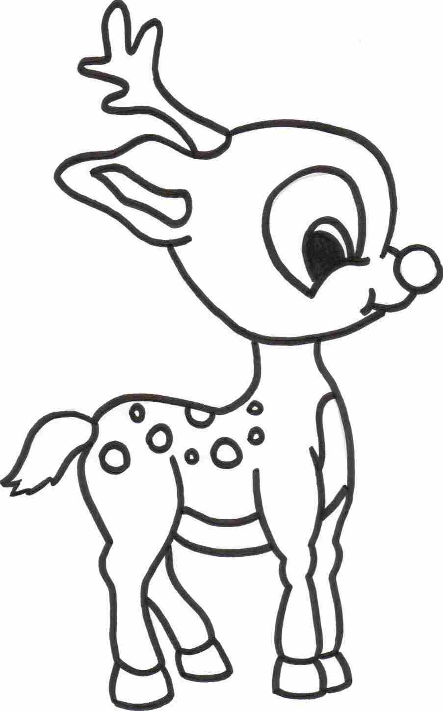 Reindeer coloring #3, Download drawings