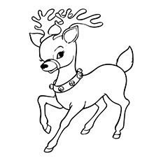 Reindeer coloring #13, Download drawings
