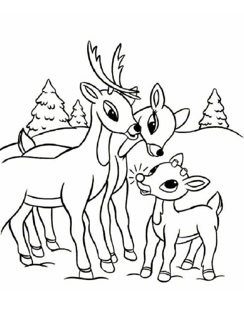 Reindeer coloring #4, Download drawings