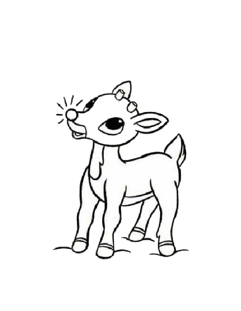 Reindeer coloring #18, Download drawings