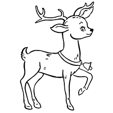 Reindeer coloring #16, Download drawings
