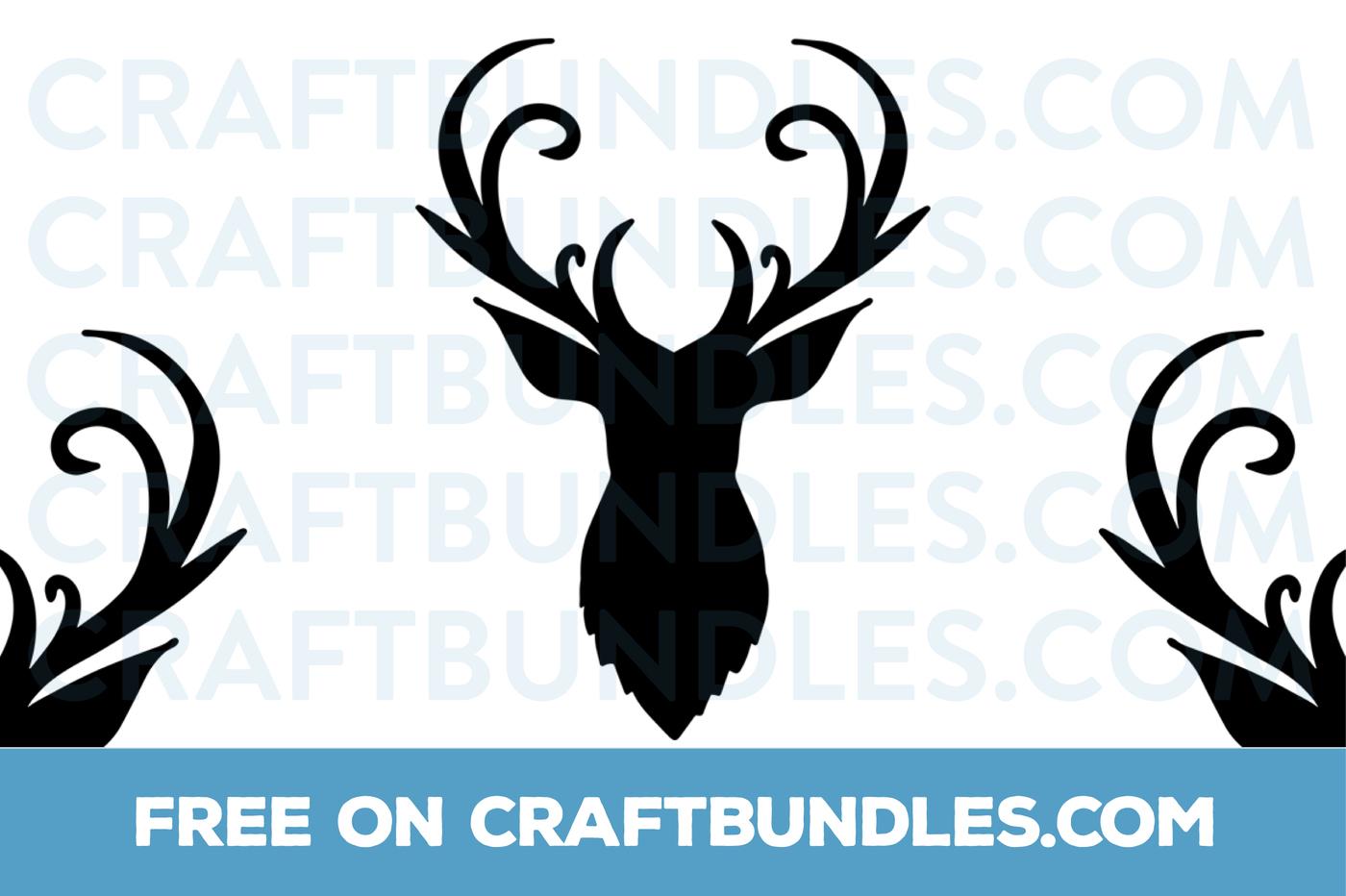 reindeer head svg #923, Download drawings