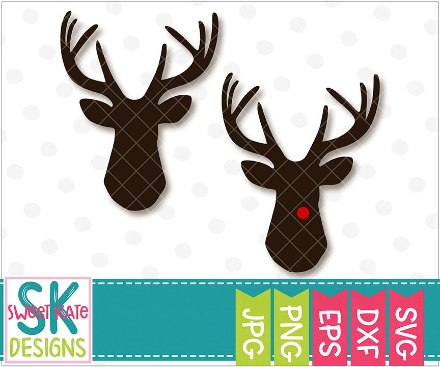 reindeer head svg #924, Download drawings