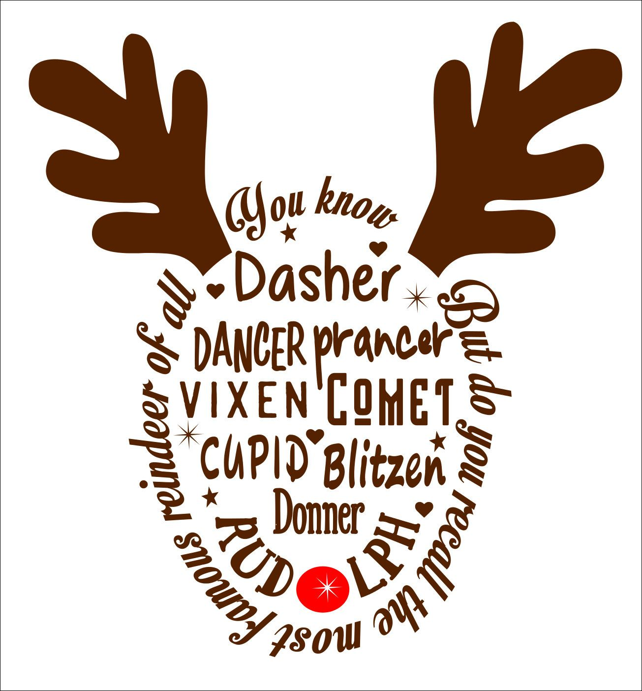reindeer names svg #729, Download drawings