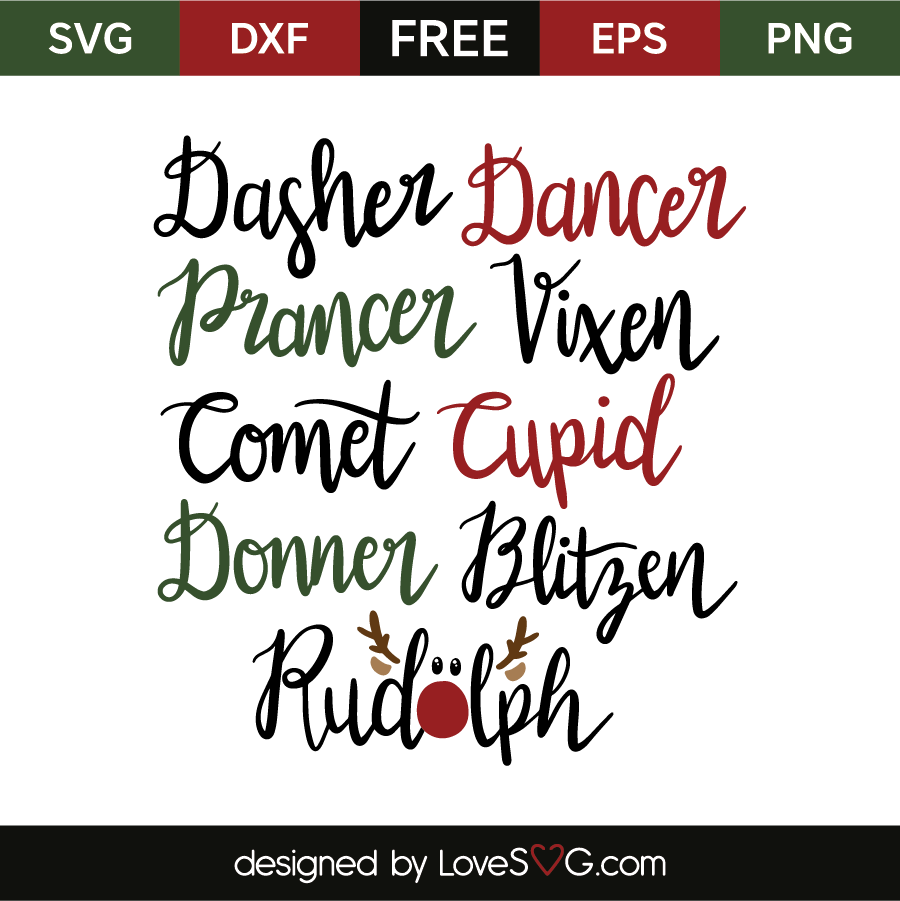 reindeer names svg #730, Download drawings