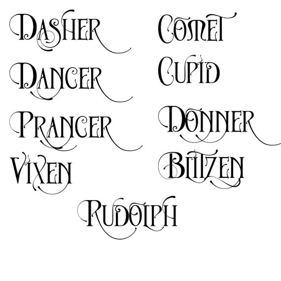 reindeer names svg #727, Download drawings