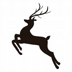 reindeer silhouette svg #455, Download drawings