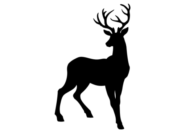 reindeer silhouette svg #438, Download drawings